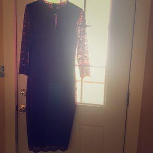 Kenzie Mid Lace Burgundy Dress